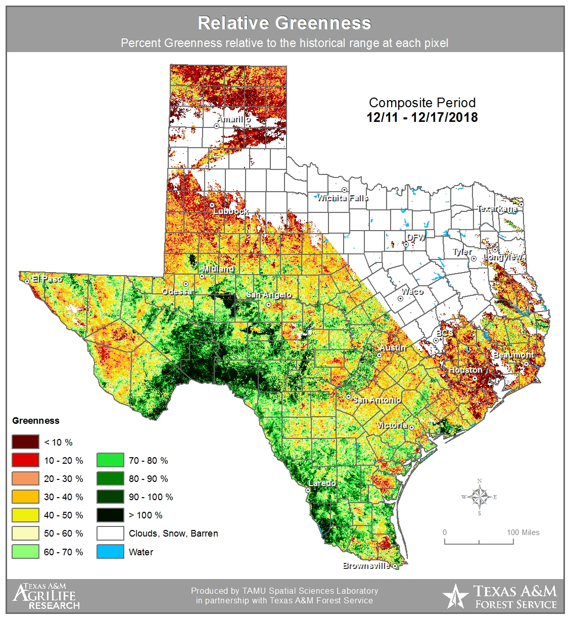 Nws san angelo fire weather departure from average greenness map texas forest service fuel dryness map texas interagency coordination center ticc freerunsca Gallery