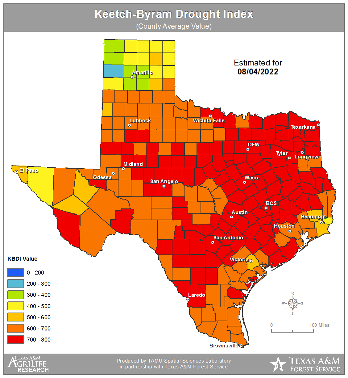 Keetch-Byram Drought Map