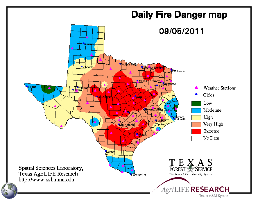 Texas Forest Service Fire Map | Business Ideas 2013